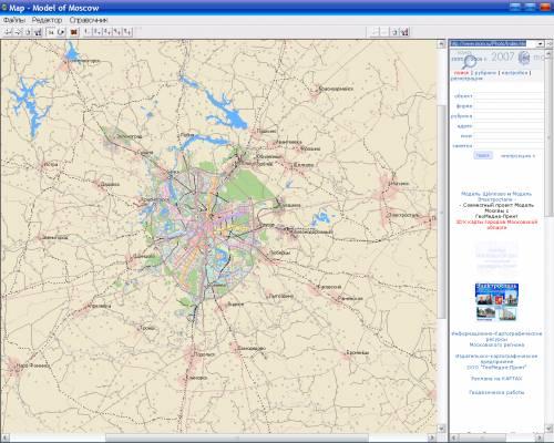 3D Карта Москвы 2009 год