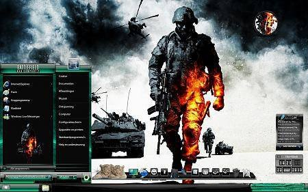 Тема оформления Windows 7 Battlefield Bad Company 2